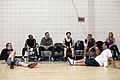 Barack Obama after basketball with Don Cheadle, Tobey Maguire, and George Clooney.jpg