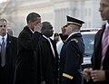 Barack Obama salutes Richard Rowe at 2009 inauguration.JPG