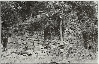 National Register of Historic Places listings in Huntingdon County, Pennsylvania - Image: Barre Furnace remains HABS