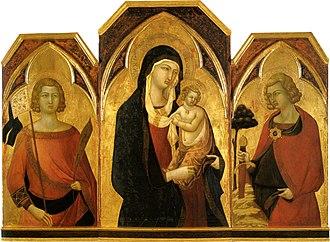 Bartolomeo Bulgarini - Madonna and child and Saints (c. 1335) Pinacoteca Nazionale, Siena