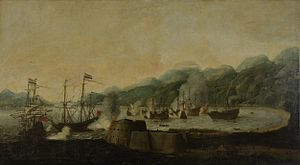 Battle of Goa (1638) - Image: Battle at Goa