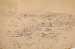 Battle of Aldie - Cavalry fight near Aldie, Va., by Edwin Forbes