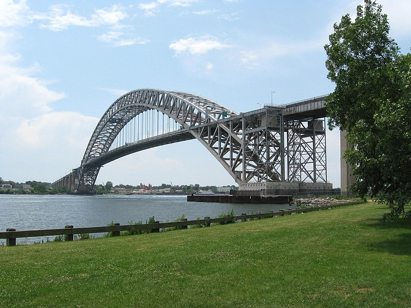 """""""Bayonne Bridge Collins Pk jeh"""" by Jim.henderson - Own work. Licensed under Public Domain via Wikimedia Commons - http://commons.wikimedia.org/wiki/File:Bayonne_Bridge_Collins_Pk_jeh.JPG#/media/File:Bayonne_Bridge_Collins_Pk_jeh.JPG"""