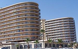 English: Beach Club Hotel, Torremolinos, Spain...