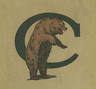 Cincinnati Bearcats - An early version of the UC Bearcats logo, from 1922