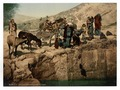 Bedouins drawing water, Holy Land-LCCN2002725065.tif
