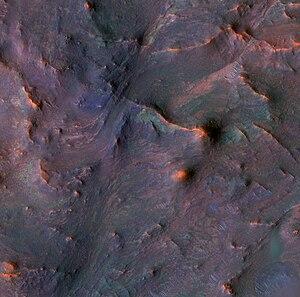 Nilosyrtis Mensae - Image: Bedrock in Nilosyrtis Mensae