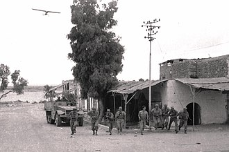 Operation Yoav - Israeli soldiers capturing Beersheba