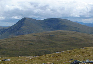 Beinn Challuim - This view from the west shows both the main summit (left) and the South Top (right) of Beinn Challuim.