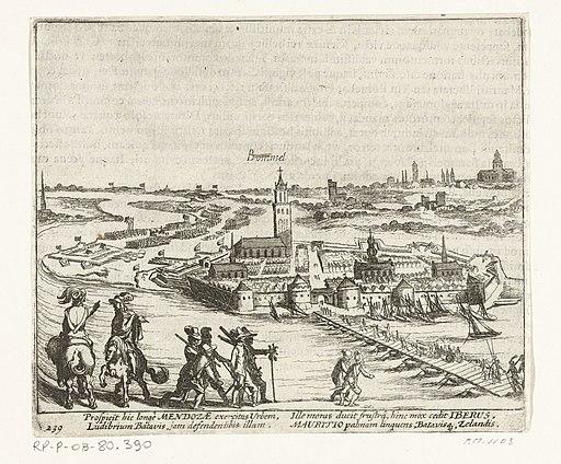 Beleg van Zaltbommel door Mendoza, 1599, RP-P-OB-80.390
