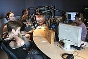 Art Matters during the Minnesota Fringe Festival. KFAI radio, Cedar-Riverside, is a public access station.