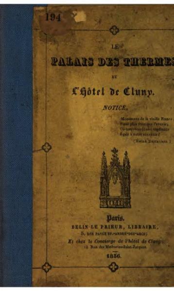 File:Belin - Le palais des thermes et l'hôtel de Cluny.djvu