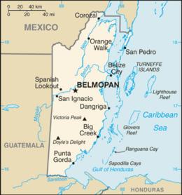 Belize - Mappa