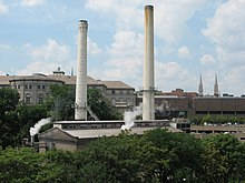 The Bellefield Boiler Plant as it looked in 2008.