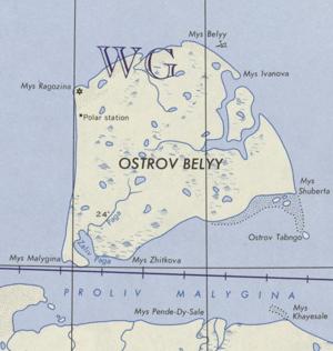 Bely Island - Bely Island, Kara Sea