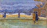 Bemberg Fondation Toulouse - Le Pont des Saints-Pères - Pierre Bonnard vers 1910 34.2x56.8 Inv.2004.jpg