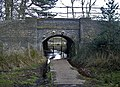 Beneath the railway to Little Bracebridge Pool - geograph.org.uk - 1755147.jpg