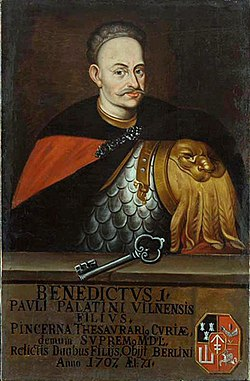 Benedykt Pavał Sapieha. Бэнэдыкт Павал Сапега (1709).jpg