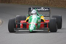 Photo de la Benetton B188 à Goodwood en 2009