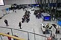 Bergen Airport Flesland, Norway 2019-11-21 Passengers waiting Gate B16 B17 Widerøe Counter Screens Seating (utgang, avgangshall) etcDSC01012.jpg