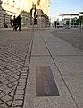 Berlin - Berliner Mauer - Bodenmarkierung am Reichstag.JPG