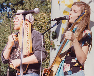 Bermuda Triangle Band - Roger and Wendy of Bermuda Triangle at the New York Folk Festival, Central Park bandshell 1986