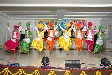A bhangra performance