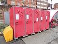 Bicycle lockers at Wigan Wallgate railway station - 2013-11-02.JPG
