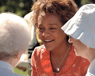 Michaëlle Jean - Michaëlle Jean greets concert attendees at the Ottawa Chamber Music Festival at Rideau Hall