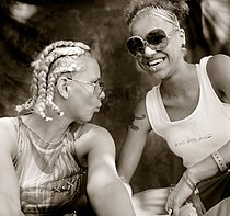 Bintia (right) and Brixx at the Splash!  Festival 2000
