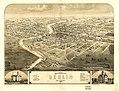 Bird's eye view of the city of Berlin, Green Lake Co., Wisconsin 1867. LOC 73694536.jpg