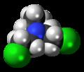 Bis(2-chloroethyl)ethylamine 3D spacefill.png