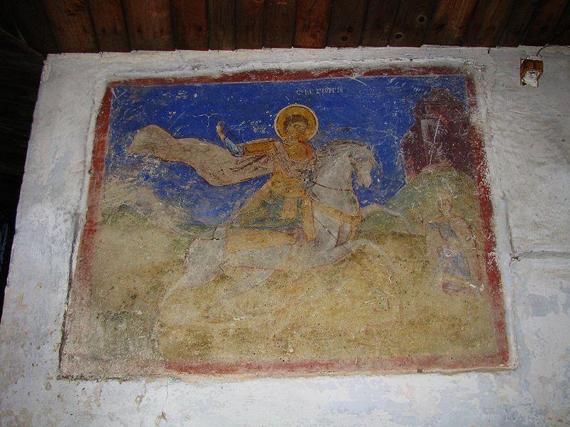 Fișier:Biserica de lemn Sf Gheorghe din satul Bascov comuna Bascov judetul Arges Romania 5.jpg