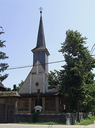 Ulmeni, Maramureș - Image: Biserica de lemn din Ulmeni