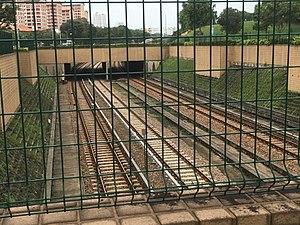Bishan MRT Station - Northbound tracks towards Ang Mo Kio Station.