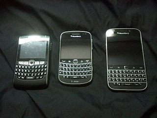 BlackBerry Line of wireless handheld devices and services