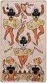 Black ballet five of clubs playing card, 1850-1900.jpg