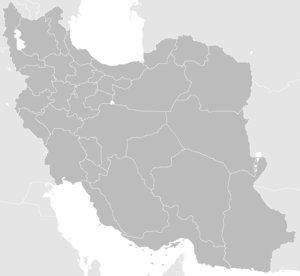 Law Enforcement Force of the Islamic Republic of Iran - Image: Blank Map Iran With Water Bodies