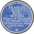 Blue plaque re Frances Mary Buss - geograph.org.uk - 1404455.jpg