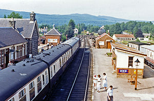 Strathspey Railway (preserved) - View northward, towards Broomhill 1986