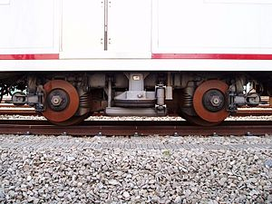 Sotetsu 7000 series - 7000 series bogie (KH59B1). Stand out disk brake