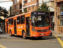 Bogotá carrera 5 calle 27 Bus del SITP