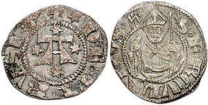 Bolognino - A bolognino struck in Republican Perugia (1395-1471).