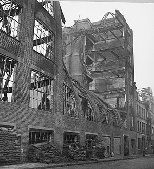 Birmingham Blitz - A ruined factory building.