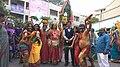 Bonaluu Folk Art form performance in Janapada Jathara (2018).jpg