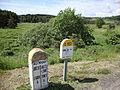 Borne limite départements, St.Agrève, Ardèche et Le Chambon-sur-Lignon, Haute-Loire.JPG