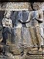 Borobudur - Lalitavistara - 070 W, The Bodhisattva roams and comes to Padmapani Hermitage (detail 4) (11249489615).jpg