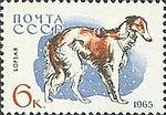 Borzoi-Canis-lupus-familiaris SU 1965 stamp.jpg