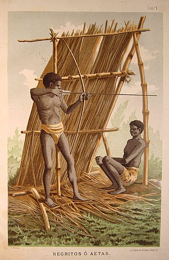 Aeta people - An artist's illustration of Aetas in 1885.