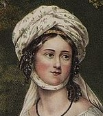 Greek heroine Laskarina Bouboulina, 1827 lithograph.